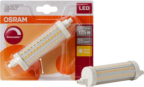OSRAM SUPERSTAR LINE 118 TUBE LINEAIRE R7S 15W DIMMABLE